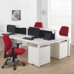 bench desking in office