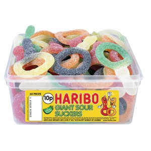 Haribo - Giant Sour Suckers sweets tub